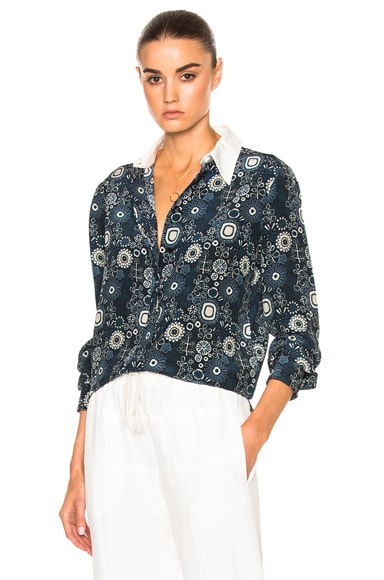 Starry Eyed Flower Print Blouse