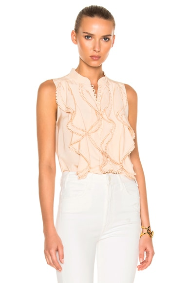 Crepe De Chine Sleeveless Blouse