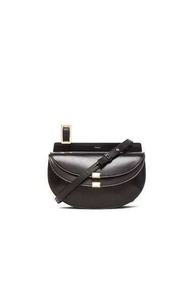 Mini Georgia Lambskin & Grain Leather Bag