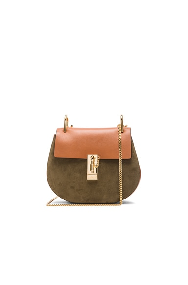 Small Drew Suede & Leather Bag