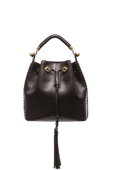 Medium Gala Leather Bucket Bag