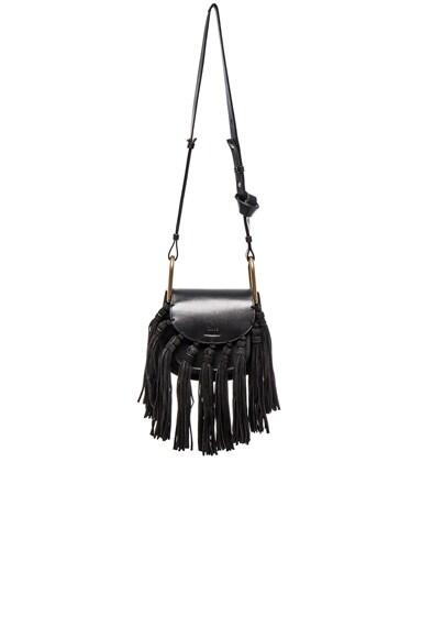 Mini Hudson Braided Leather & Suede Bag