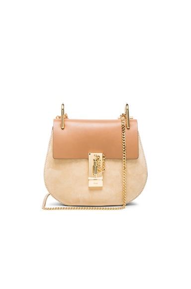 Mini Drew Leather & Suede Bag