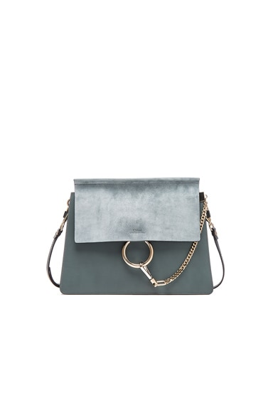 Medium Faye Bag in Cloudy Blue