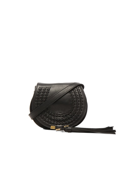 Small Leather Braid Marcie Satchel