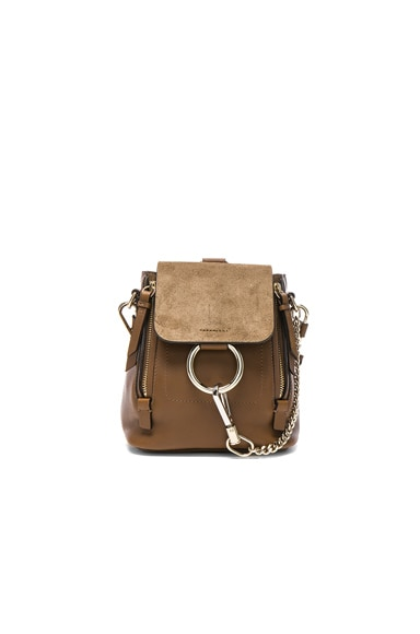 Mini Faye Suede & Calfskin Backpack