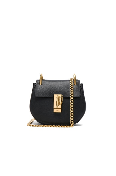 Mini Leather Drew Chain Shoulder Bag
