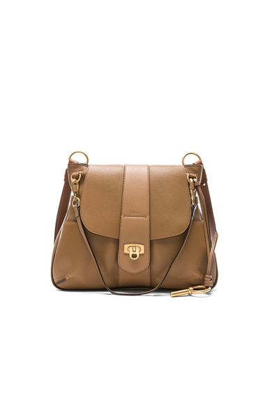 Medium Lexa Leather Shoulder Bag