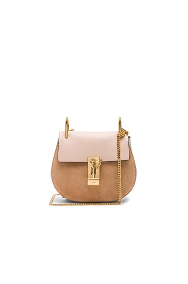 Mini Drew Calfskin & Suede Shoulder Bag