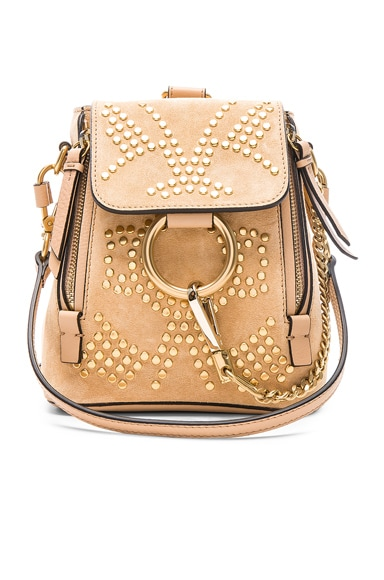 Mini Faye Constellation Studded Suede Backpack