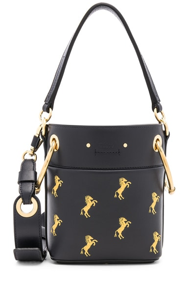Mini Roy Horse Embroidered Bucket Bag
