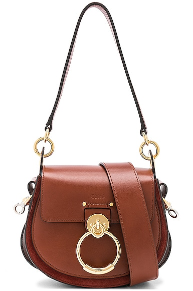 Small Tess Shiny Calfskin Shoulder Bag