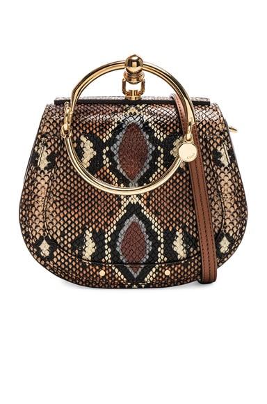 Nile Small Python Print Bracelet Bag