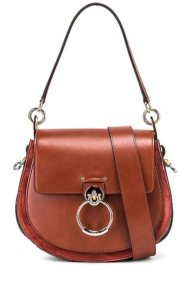 Medium Tess Shiny Calfskin Shoulder Bag