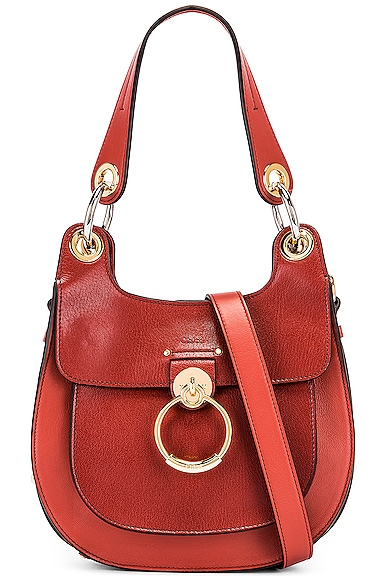 Small Tess Leather Hobo Bag