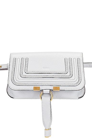 Small Marcie Grained Calfskin Belt Bag