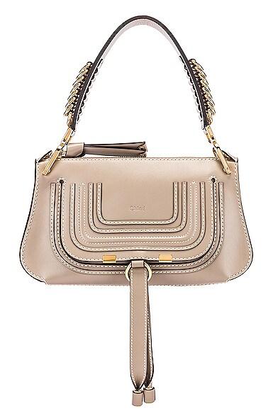 Small Marcie Leather Saddle Bag