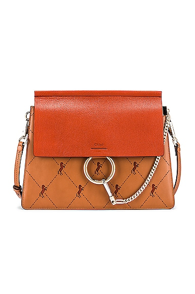 Medium Faye Perforated Horses Shoulder Bag