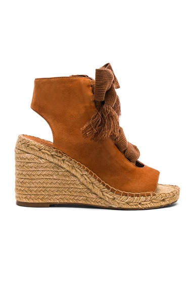 Suede Harper Lace Up Espadrilles
