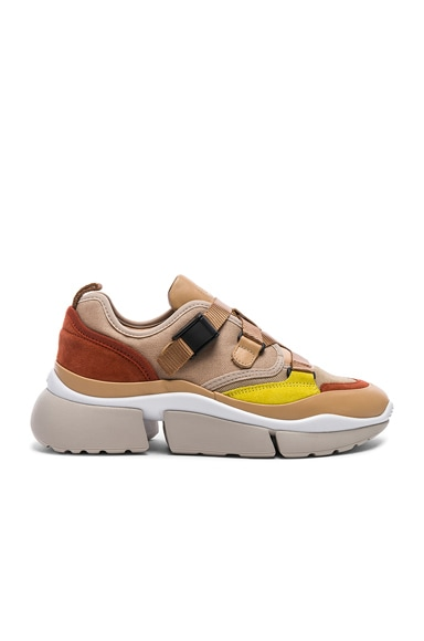 Sonnie Leather Velcro Strap Sneakers