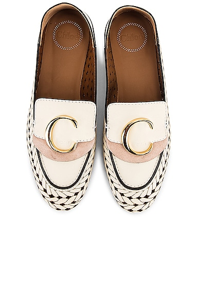 C Lasered Leather Loafers