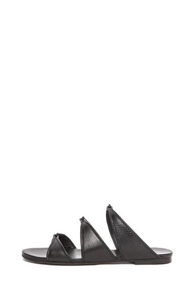 Karung Leather Slip On Sandals