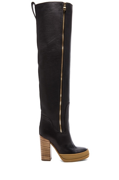 40MM Over the Knee Leather Boots
