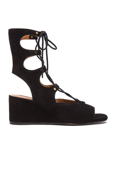 Short Suede Gladiator Wedges