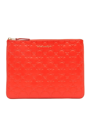 Clover Embossed Pouch