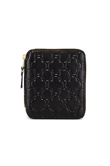 Embossed Leather Line Pattern B Wallet