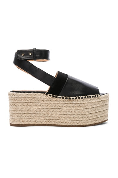 Leather Wigandia Espadrilles