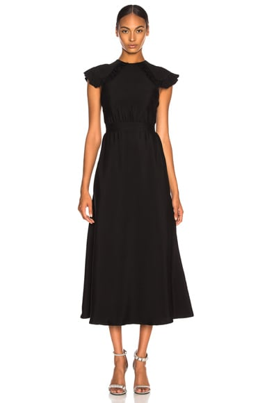Viscose Cady Cap Sleeve Dress
