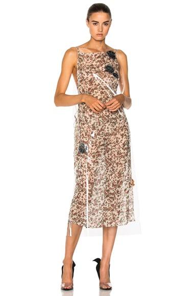Printed Cupro Gauze Midi Dress