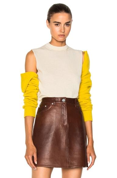 Merino Open Shoulder Sweater