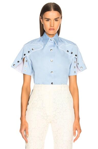 Snap Cape Sleeve Shirt