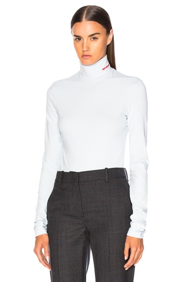 Stretch Cotton Jersey Turtleneck
