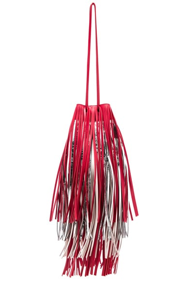 Short Fringe Bucket Bag