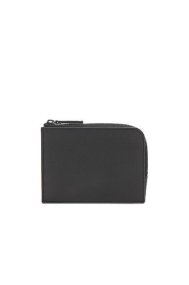 Saffiano Leather Zipper Wallet