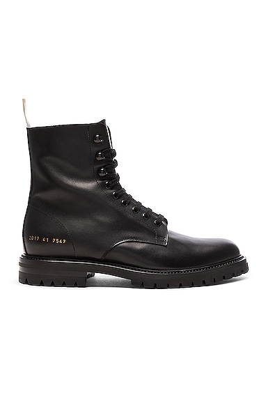 Leather Winter Combat Boots