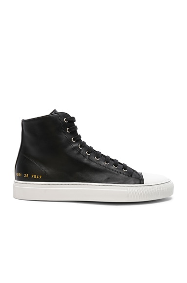Leather High Tournament Cap Toe Sneakers