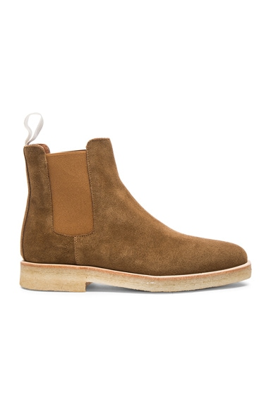 Suede Chelsea Boots in Tobacco