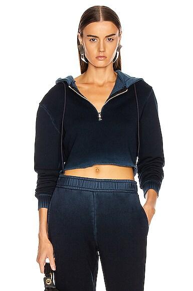 Brooklyn Crop Zip Hoodie