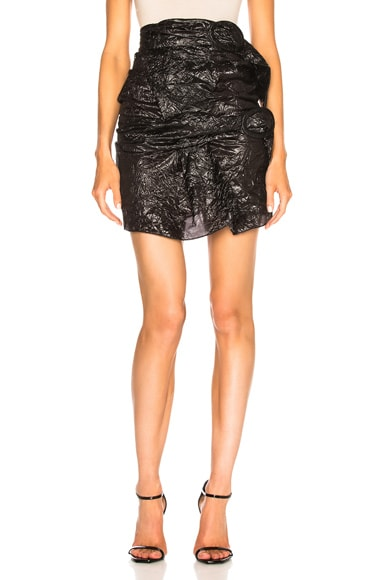 Buckle Mini Skirt