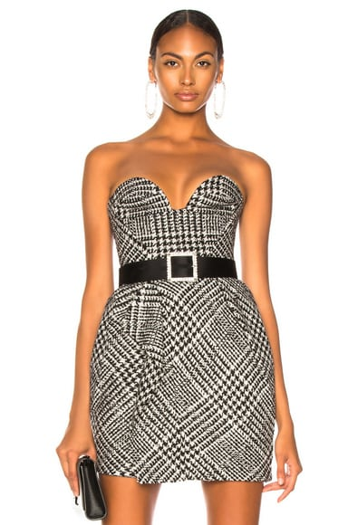 Checked Sweetheart Top