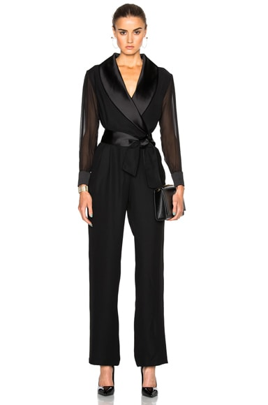 Sheer Sleeve Jumpsuit