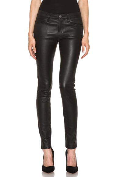 The Ankle Skinny Leather Pant
