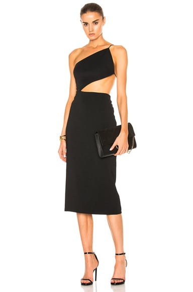 Cindy Asymmetric Open Back Dress