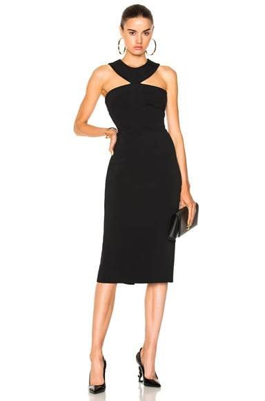 Pencil Dress with Collar Neckline