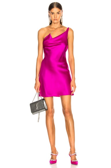 Asymmetrical Strap Mini Dress