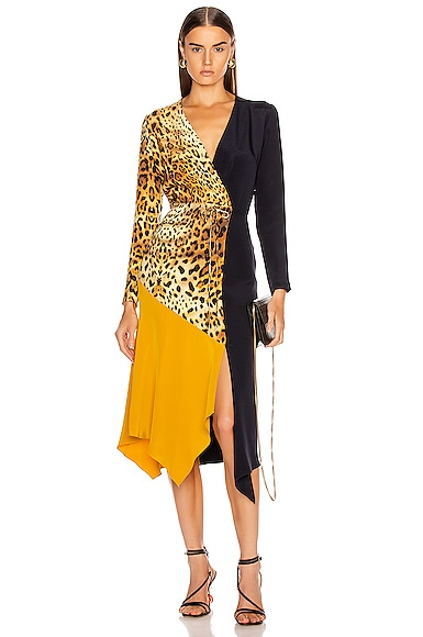 Color Block Long Sleeve Dress